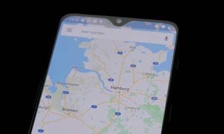 Google Maps Android Dunkel Header