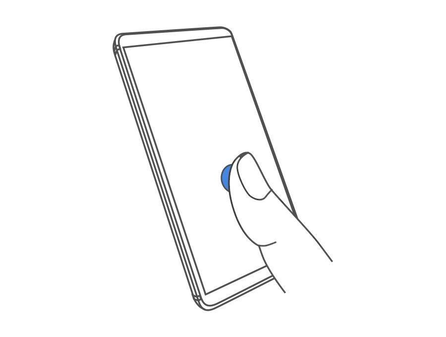 Nokia 9 Fingerabdruck