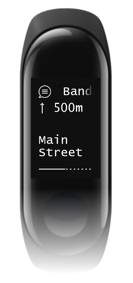 Xiaomi Mi Band 3 Navigation