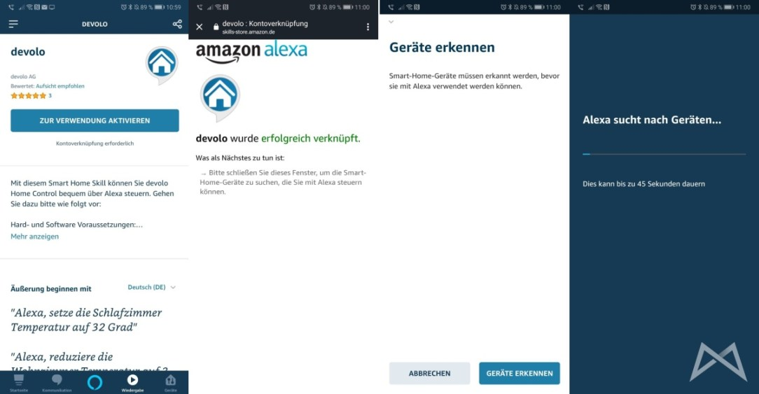 Alexa Echo Smart Devolo Skill Einrichtung