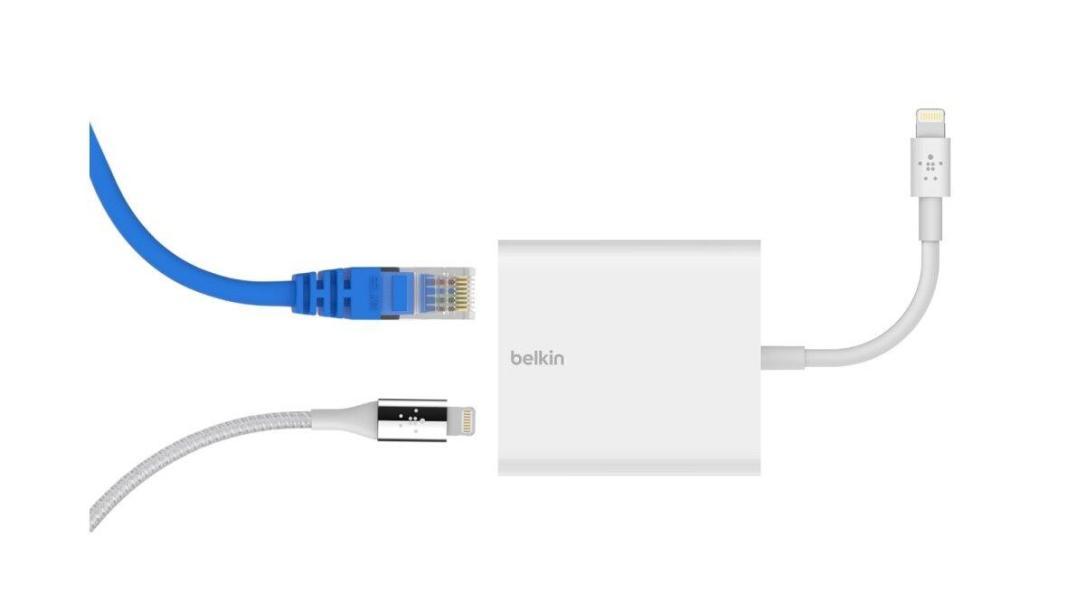 Ethernet Und Stromadapter Mit Lightning Connector Belkin 1
