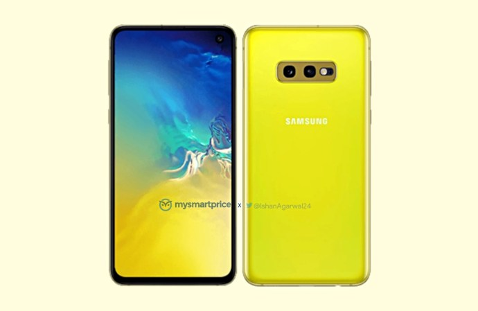 Samsung Galaxy S10e Gelb Leak