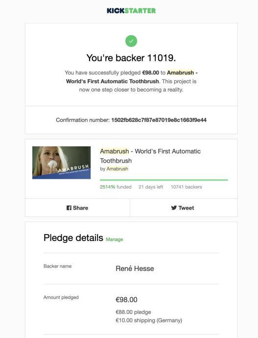 Amabrush Kickstarter