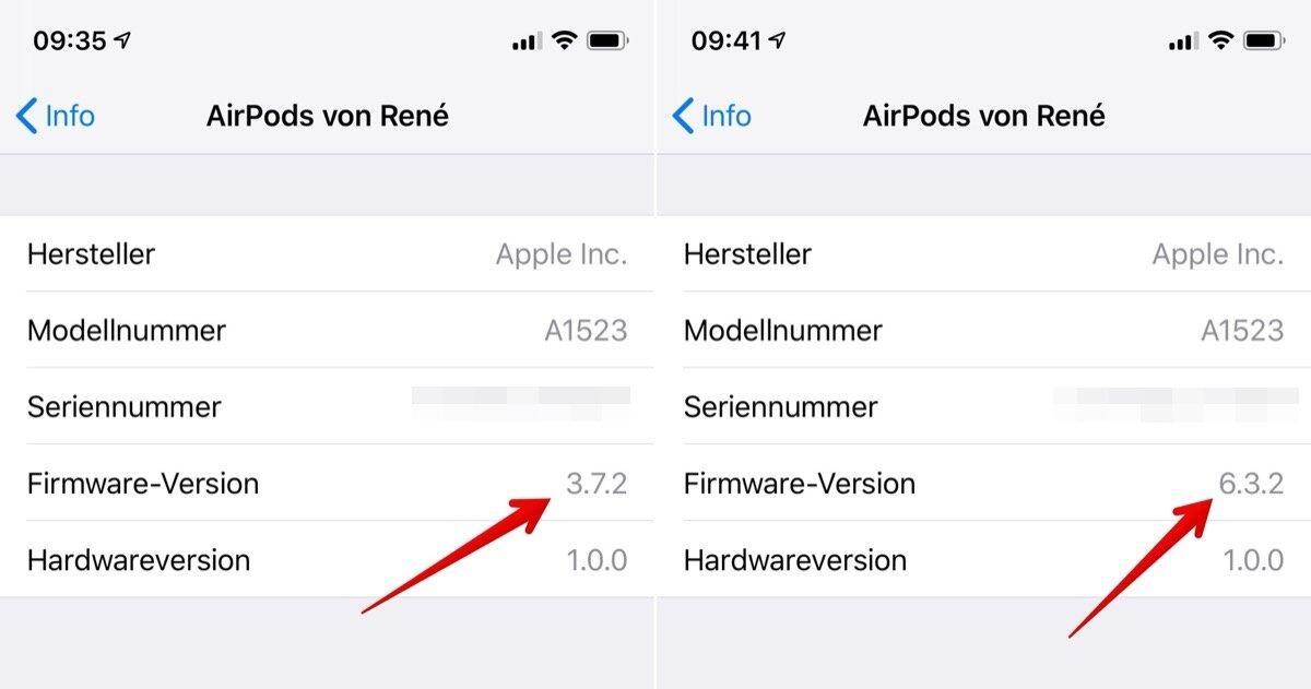 Apple Airpods Gen 1 Firmware Update