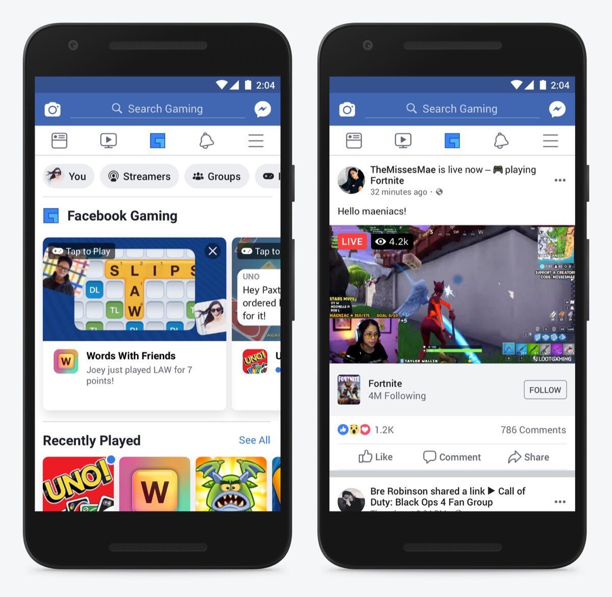 Facebook Tab Side By Side