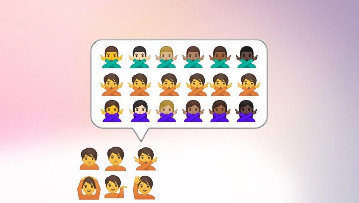 Google Emoji Geschlech Neutral Header