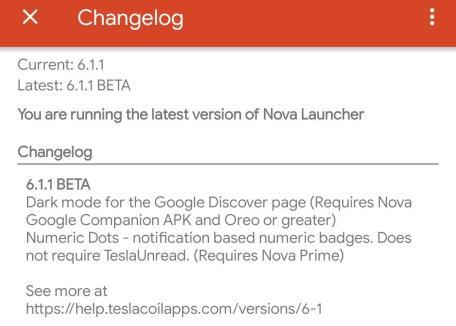 Nova Lauuncher 6 Beta