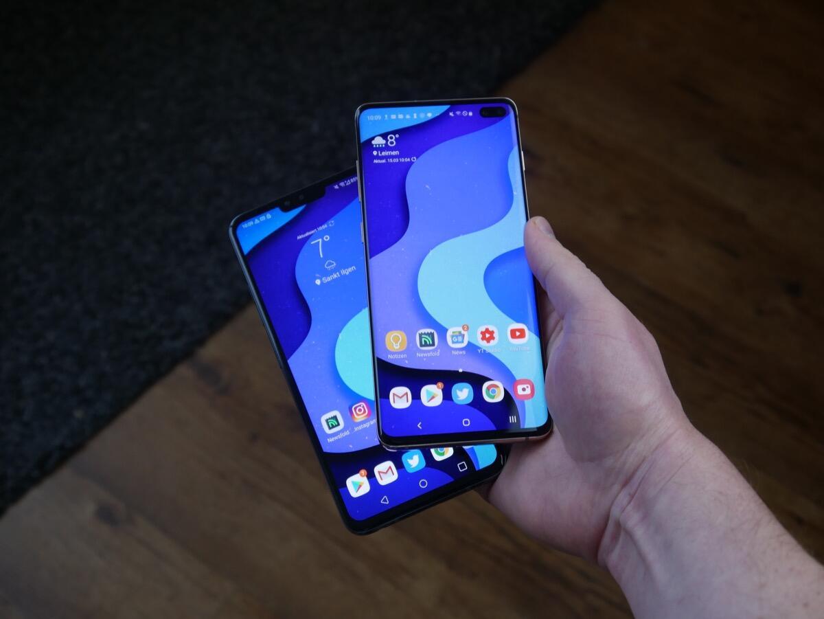 Samsung Galaxy S10 Lg V40 Vergleich2