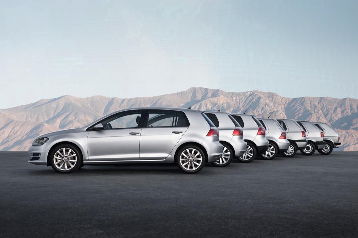 Volkswagen Golf Generation One To Seven
