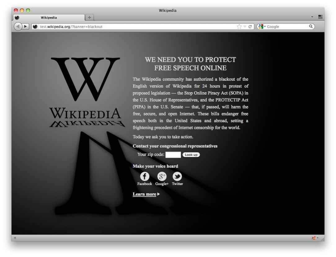 Wikipedia Sopa Protest Blackout 3