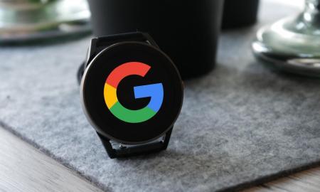 Google Pixel Watch Smartwatch Mockup Header