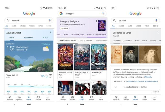 Google Suche Neue Optik