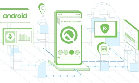 Android Q Google Header
