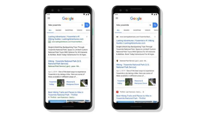 Google Suche Mobil Header