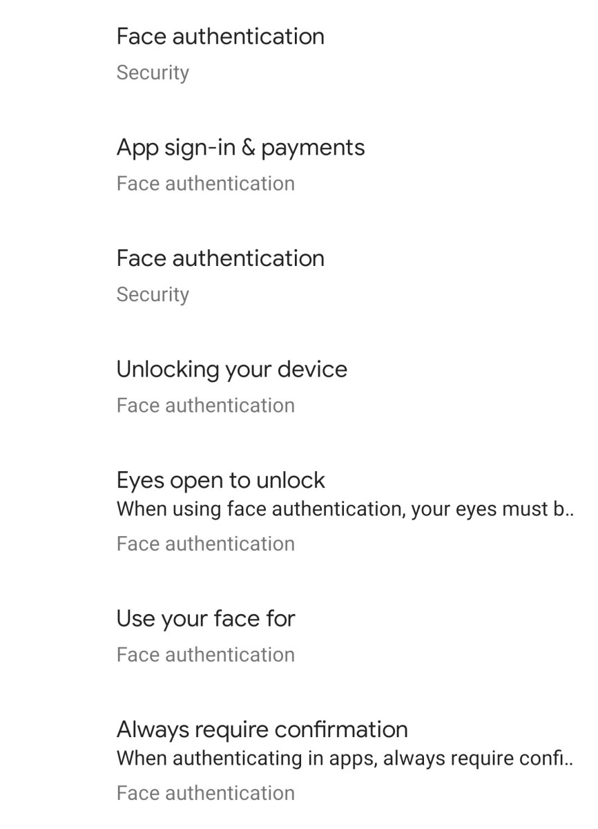 Face Authentication Android Q
