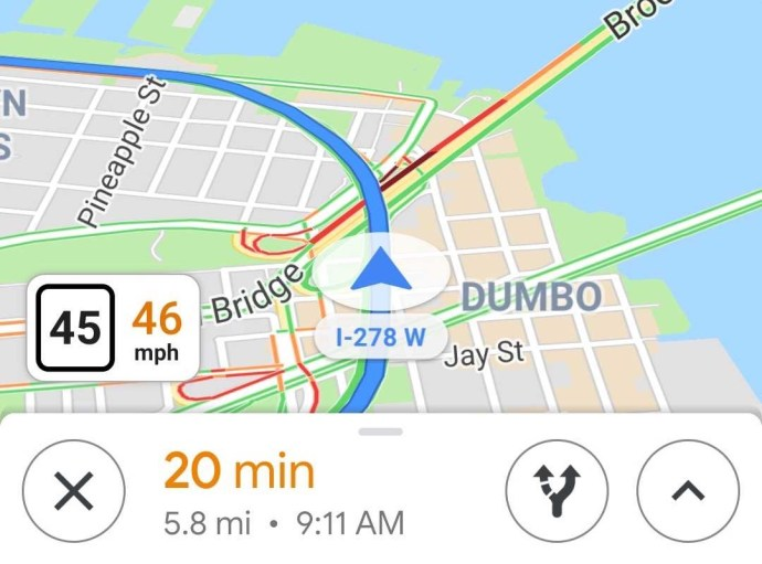 Google Maps Tach Tempolimit