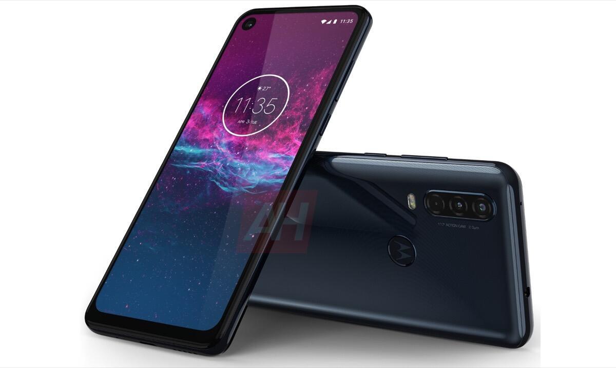 Motorola One Action Blau Leak