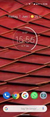 Motorola One Vision Homescreen
