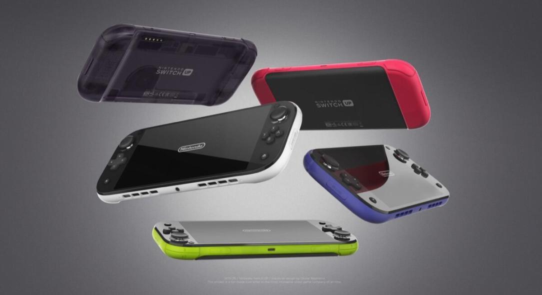 Nintendo Switch Up Konzept Farben