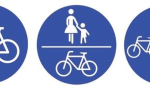 Radweg Zeichen