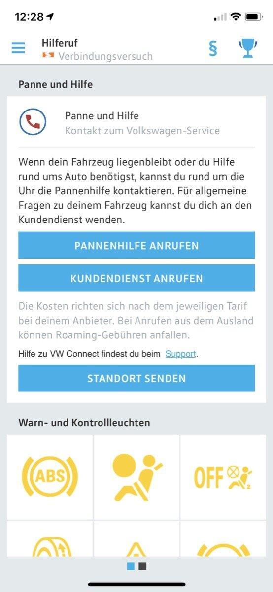 Volkswagen Connect App 9