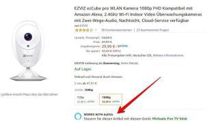 Ezviz Works With Amazon Alexa