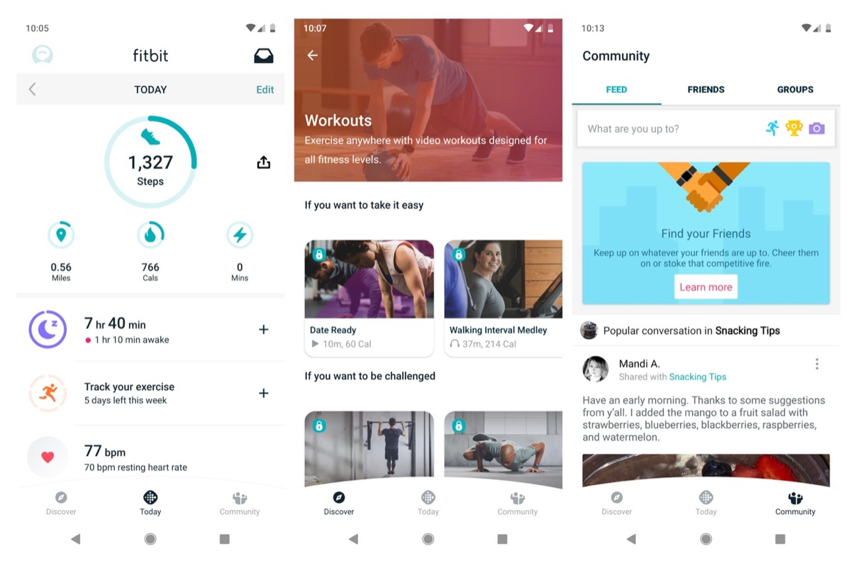 Fitbit App Design Neu