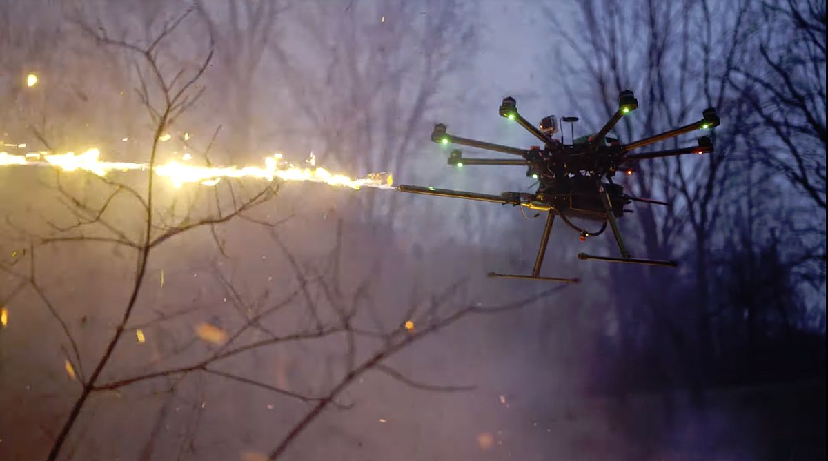 Flamethrower Wasp Drone