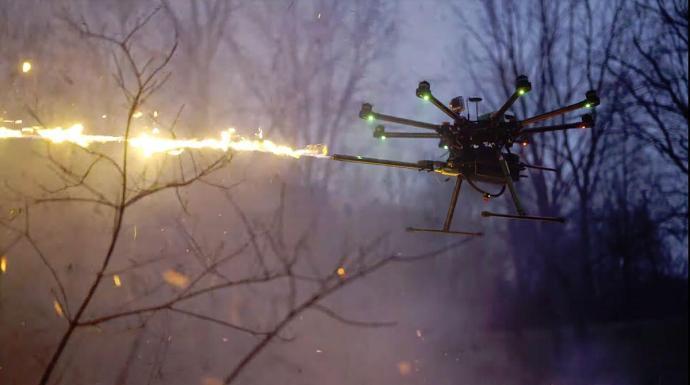 Flamethrower Wasp Drone