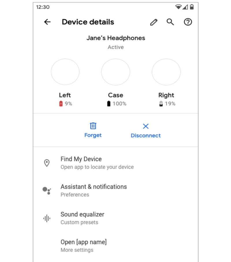 Google Android Q Fast Pair