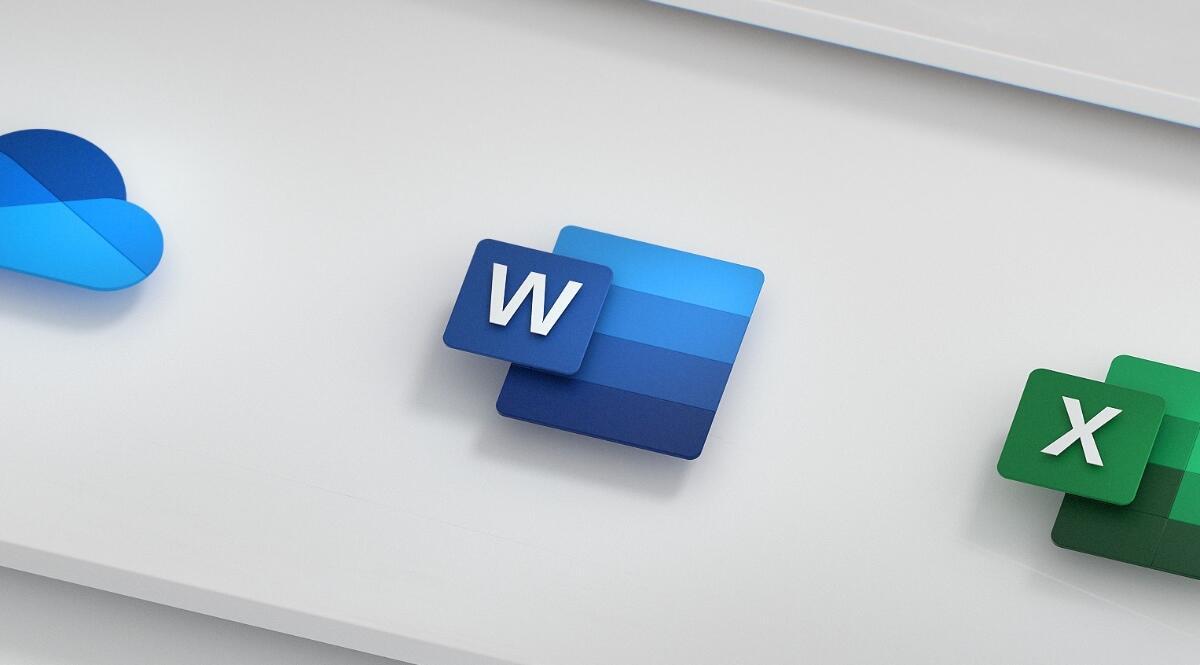 Microsoft Word Icon Logo Header Neu