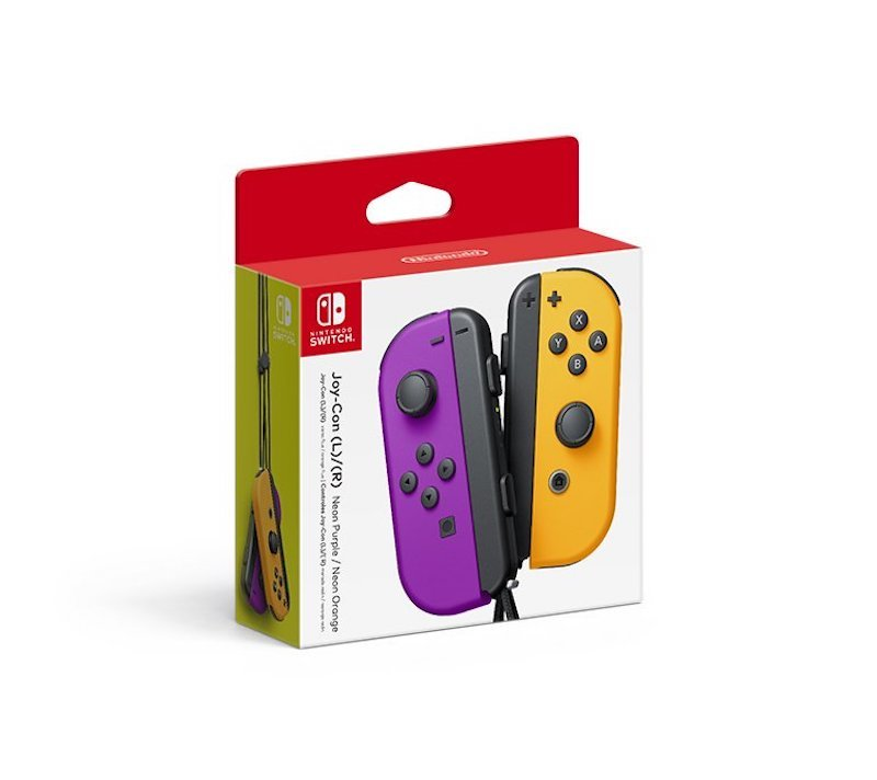 Nintendo Switch Joy Con Lila Orange