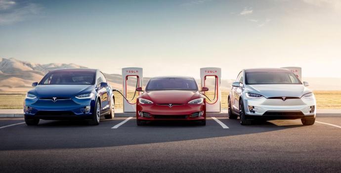 Tesla Supercharger Header