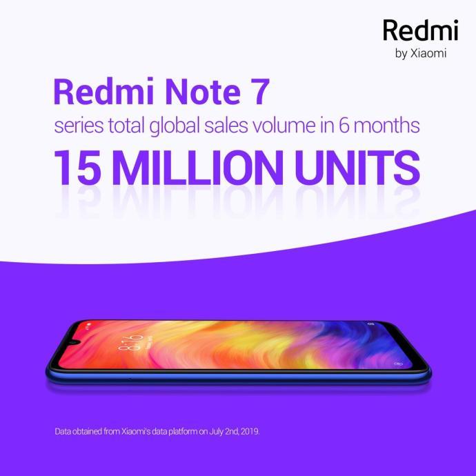 Xiaomi Redmi Note 7 Meilenstein