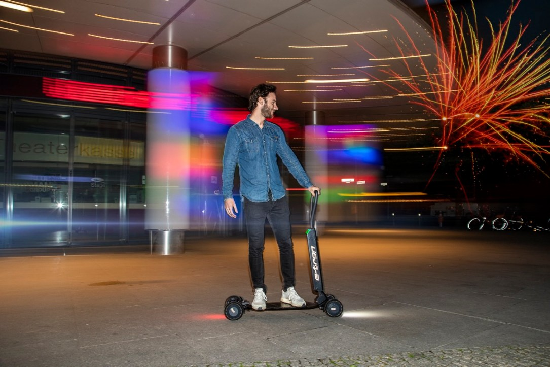 Audi Combines E Scooter With Skateboard