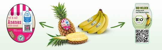 Bananen Ananas Labels Info Lg