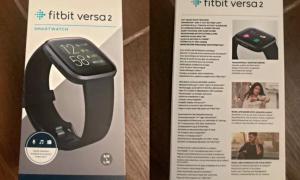 Fitbit Versa 2 Verpackung Leak