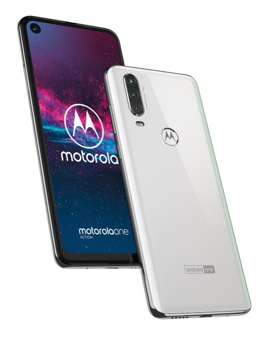 Motorola One Action Pearl White (6)