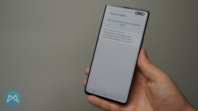 Software-Stand Samsung Galaxy S10 5G.