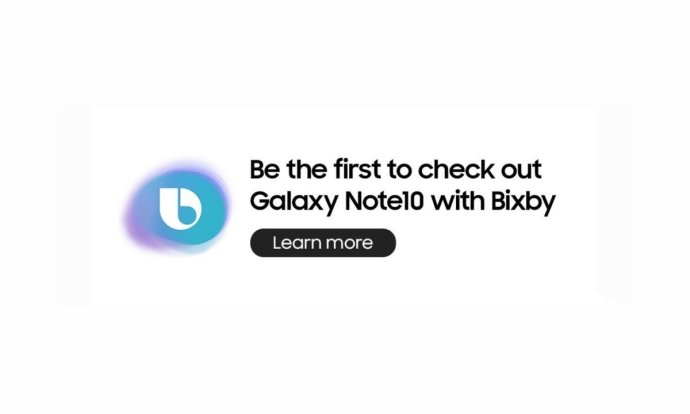 Samsung Galaxy Note 10 Bixby Werbung