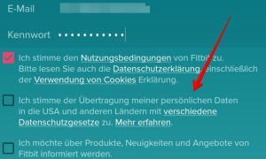 Fitbit Versa 2 Konto Mit Daten In Die Usa