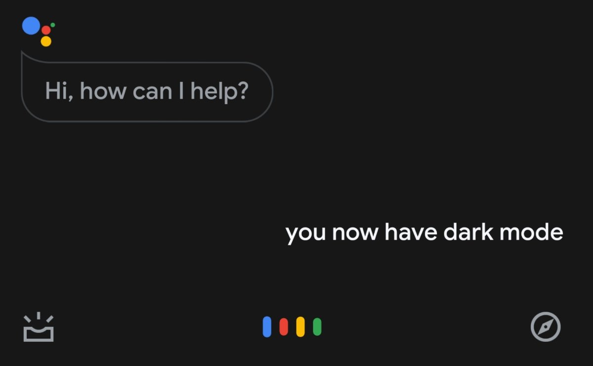 Google Assistant Dark Mode