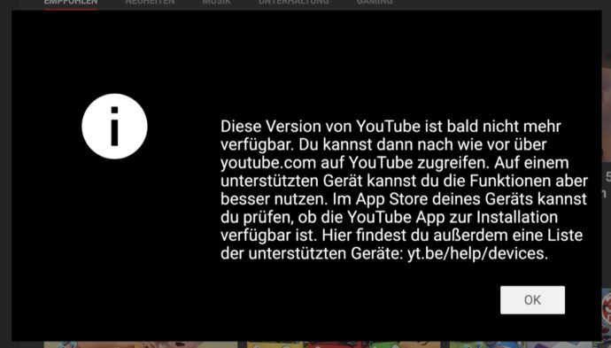 Youtube Tv Ende