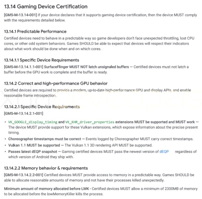Google Gaming Device Cert