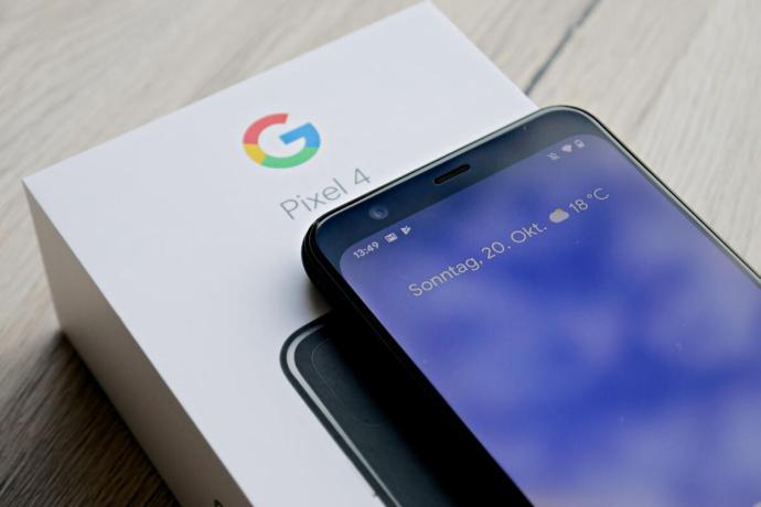 Google Pixel 4 Verpackung