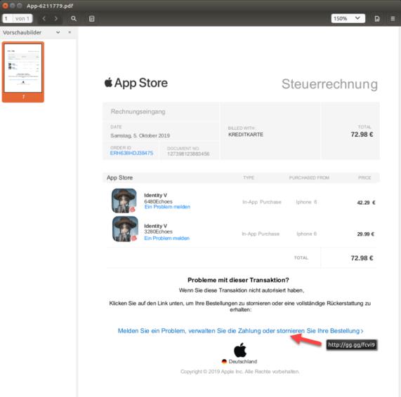 Lka Apple Rechnung
