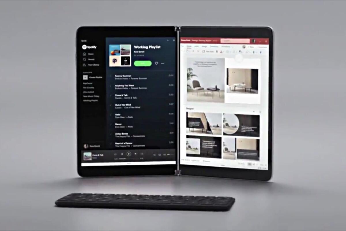 Microsoft Surface Neo Klappen