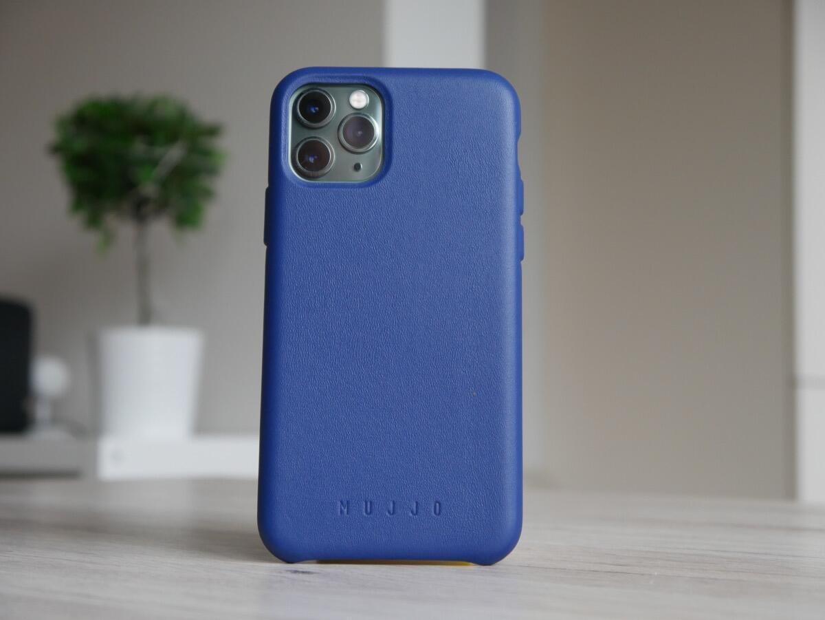 Apple Iphone 11 Pro Mujjo Leder Case Blau