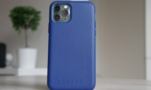 Apple Iphone 11 Pro Mujjo Leder Case Blau