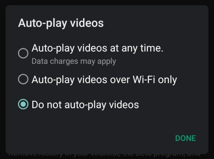 Google Play Store Auto Play Videos